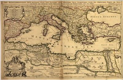 Mediterranean Sea divided into its Principall parts or seas IMG