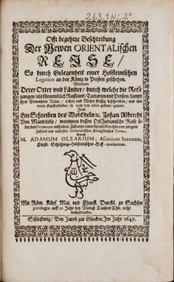 Offt begehrte Beschreibung der Newen Orientalischen Reise 1647 IMG