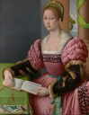 Bachiacca (1494–1557), Portrait of a Woman with a Book of Music, ca. 1540–1545