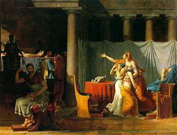 Les Licteurs rapportent à Brutus les corps de ses fils IMG