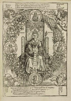 Albrecht Dürer (1471–1528), Philosophia, Holzschnitt, 1502; Bildquelle: Museen der Stadt Nürnberg – Graphische Sammlung.