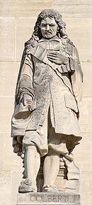Raymond Gayrard (1777-1858), Statue des Jean-Baptiste Colbert, (1619-1683), 1857, Stein, Napoleon-Hof des Louvre, Photograph: Marie-Lan Nguyen, 2008; Bildquelle: Wikimedia Commons, http://commons.wikimedia.org/wiki/File:Colbert_cour_Napoleon_Louvre.jpg?uselang=fr.licence Creative Commons Paternité 3.0 Unported.