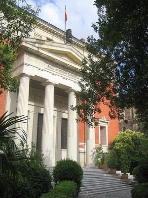 Photograph: unbekannt, 2009, Bildquelle: Wikimedia Commons, http://commons.wikimedia.org/wiki/File:Real_Academia_Espa%C3%B1ola,_Madrid_-_view_2.JPG