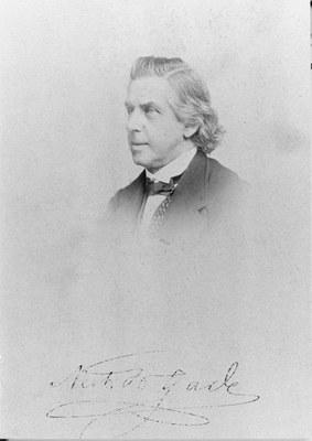 s/w-Foto von Niels Wilhelm Gade (1817–1890), Bildquelle: Archiv des Gewandhauses Leipzig