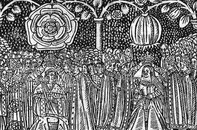 Stephen Hawes (gest. 1523), A ioyfull medytacyon to all Englonde of the coronacyon of our moost naturall souerayne lorde kynge Henry the eyght, Einblattdruck mit Holzschnitt, London 1509, Cambridge University Library, Short-title catalogue, no.12953; online: http://hooke.lib.cam.ac.uk/cgi-bin/bib_seek.cgi?cat=ul&bib=3590356.
