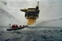 Greenpeace gegen die Versenkung der Plattform Brent Spar 1995