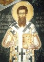 Fresko des Gregor Palamas (ca. 1296–1357) in Kloster Vatopedi, Berg Athos, Farbphotographie, 2005, unbekannter Photograph; Bildquelle: Wikimedia Commons, http://commons.wikimedia.org/wiki/File:Palamas_Vatopaidi.jpg?uselang=de, Creative Commons CC-Zero, https://creativecommons.org/publicdomain/zero/1.0/deed.de.