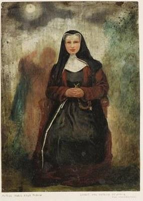 Portrait von Margaretha Rosa Flesch (1826–1906), unbekannter Künstler; Bildquelle: Mit freundlicher Genehmigung der Waldbreitbacher Franziskanerinnen BMVA, http://wf.dgserver18.de/Gruenderin-Mutter-Rosa.33.0.html.
