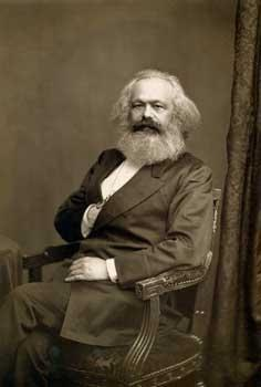 John Jabez Edwin Paisley Mayall (1813–1901): Karl Marx (1818–1883) in London, black-and-white photograph, 1875; source: International Institute of Social History BG A9/362, http://hdl.handle.net/10622/30051000110277.