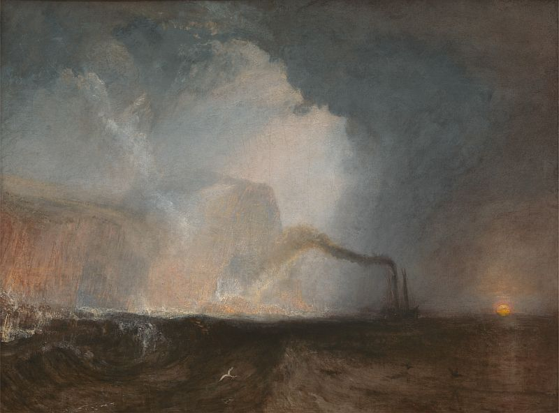 Joseph Mallord William Turner (1775–1851): Staffa, Fingal's Cave, 1831/1832, 90.8 x 121.3 cm, oil on canvas, source: Yale Center for British Art, Paul Mellon Collection, B1978.43.14, http://collections.britishart.yale.edu/vufind/Record/1669251. Public Domain.
