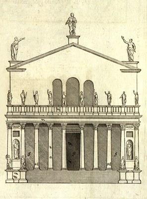 Künstler: Andrea Palladio, Bildquelle: Palladio, Andrea: I quattro libri dell'architettura, Venedig 1570, vol. 4, S. 35, Exemplar der Niedersächsischen Staats- und Universitätsbibliothek Göttingen, Signatur 4 M ARCH I, 1293 RARA.