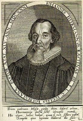 Portrait von Johann Heermann (1585–1647), 1669, unbekannter Künstler; Bildquelle: Boissard, Jean-Jacques: Bibliotheca chalcographica, Pars 6, Frankfurt am Main 1669.