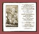 Leonhard Goffiné (1684-1719), Christkatholisches Unterrichtungsbuch, Augsburg 1818, Titelseite; Bildquelle: Wikimedia Commons, http://de.wikipedia.org/w/index.php?title=Datei:Leonhard_Goffine_Titelkupfer_Handpostill.jpg.