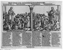 Georg Pencz (1500–1550), Die widersprüchlichen Predigten, Holzschnitt, Text von Hans Sachs, erschienen bei Wolfgang Formschneider, Nürnberg, 1529; Bildquelle: Bildagentur für Kunst, Kultur und Geschichte (bpk) / Kupferstichkabinett, SMB / Jörg P. Anders, Bildnummer: 20028191.