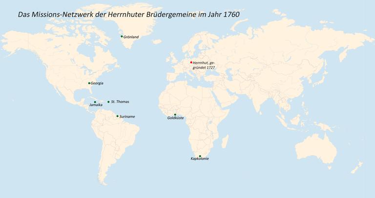 Das Missions-Netzwerk der Herrnhuter Brüdergemeine im Jahr 1760 IMG