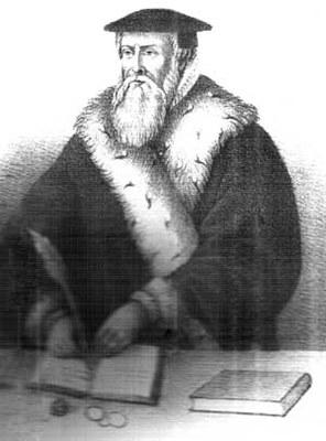 Jacob Kornerup (1825–1913), Portrait von Hans Tausen (1494–1561) nach einem Gemälde im Dom zu Ribe, 1867; Bildquelle: Wikimedia Commons, http://commons.wikimedia.org/wiki/File:Hans_tausen.jpg?uselang=de, gemeinfrei.