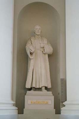 Ville Vallgren (1855–1940), Statue von Mikael Agricola (ca. 1510–1557), 1887, Farbphotographie 2009, Photograph: Fanny Schertzer; Bildquelle: Wikimedia Commons, http://commons.wikimedia.org/wiki/File:Mikael_Agricola.jpg?uselang=de.Creative Commons-Lizenzen Namensnennung-Weitergabe unter gleichen Bedingungen 2.5 generisch