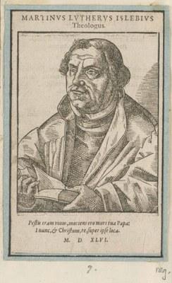 Portrait von Martin Luther (1483–1546), Holzschnitt, 1546, unbekannter Künstler; Bildquelle: Kungliga biblioteket, Stockholm, Reproduktion: Jens Östman, Kungliga biblioteket - The National Library of Sweden.