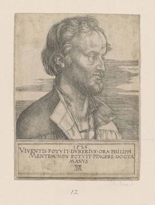 Albrecht Dürer (1471–1528), Portrait von Philipp Melanchthon (1497–1560), Holzschnitt, 1526; Bildquelle: Kungliga biblioteket, Stockholm, Reproduktion: Jens Östman, Kungliga biblioteket - The National Library of Sweden.