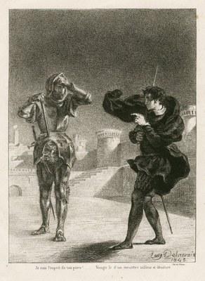 Eugene Delacroix (1798–1863), Le fantôme sur la terrasse, 1843