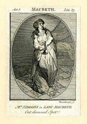 Mrs. Siddons as Lady Macbeth 1784