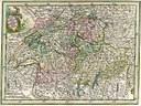 """""""Novissima Foederatarum Helvetiqum"""", Landkarte, Deutschland, 1762, unbekannter Autor; Bildquelle: Dietmann, Carl Gottlob / Haymann, Johann Gottfried: Neue Europäische Staats- und Reisegeographie, Dresden und Leipzig 1762, vol. X."""