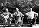 Churchill, Truman und Stalin während der Potsdamer Konferenz 1945 IMG