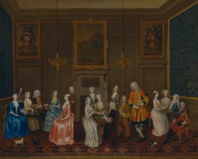 Charles Philips (1708–1747), Tea Party bei Lord Harrington
