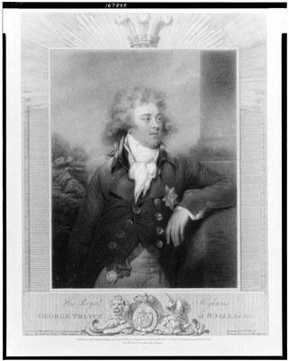 Collyer, Joseph (1748–1827): His royal highness George Prince of Wales [later George IV, King of England], Kupferstich, 1792, nach einem Gemälde von John Russell; Bildquelle: Library of Congress, LC-USZ62-107848, http://www.loc.gov/pictures/item/93506651/.