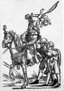 Osmanischer Soldat mit gefangenen österreichischen Bauern IMG