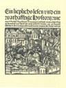 Elisabeth von Nassau-Saarbrücken (1393–1456): Hug Schappler, Titelblatt, 1500, unbekannter Künstler; aus: Stephan Füssel: Gutenberg und seine Wirkung, Darmstadt 1999, Tafel 40.