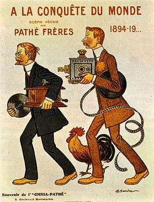 Adrien Barrère (1877–1931), A la Conquête du Monde - Scene Vecue - Pathé Frères, Farbplakat, 1894, Digitalisat: Androstachys; Bildquelle: Wikimedia Commons, http://commons.wikimedia.org/wiki/File:Adrien_Barr%C3%A8re13.jpg.