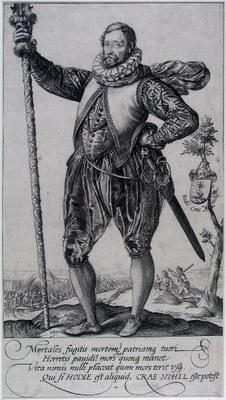 Hendrick Golzius, A Pikeman, engraving, 220 × 149 mm, 1582, source: Museum Boijmans Van Beuningen, http://www.geheugenvannederland.nl/?/nl/items/BVB01:L196213PK