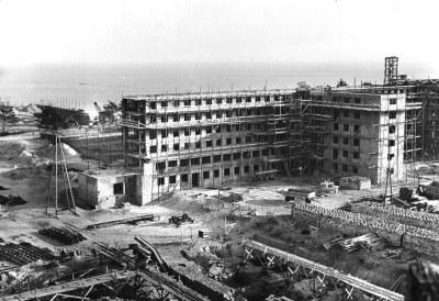 Bau des KdF-Seebades Prora