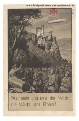 Fest steht und treu die Wacht, die Wacht am Rhein!
