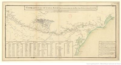 Karte des Canal du Midi