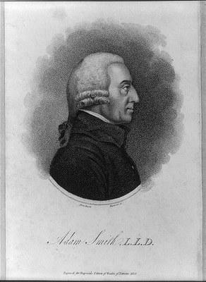 Adam Smith (1723–1790), Kupferstich, 1805, unbekannter Künstler; Bildquelle: Library of Congress LC-USZ62-17407, http://www.loc.gov/pictures/item/2004672780/.