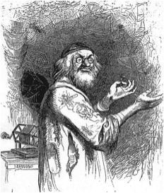 """J.J. Grandville (1803–1847), Illustration aus """"Gullivers Reisen"""", 1843; Bildquelle: Swift, Jonathan: Gullivers Reisen in unbekannte Länder, Stuttgart 1843, vol. 2,  S. 61."""