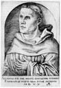 Martin Luther als Mönch, predigend oder lehrend mit Buch IMG