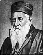 Portrait von Jehuda Alkalai (1789-1878), [o.J.], unbekannter Künstler; Bildquelle: Jewish Agency for Israel; http://194.90.65.227/JewishAgency/English/Jewish+Education/German/Israel+und+Zionismus/Personen/Judah+Alkalai.htm.